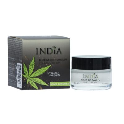 India - Krem do twarzy z olejem z konopi 50ml.
