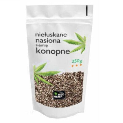 Niełuskane nasiona konopne