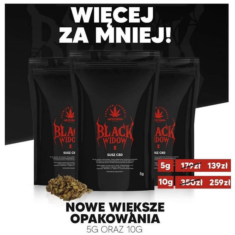 susz konopny black widow cbd
